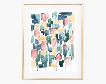 Watercolor Abstract Art ,Instant Download Art, Neutral Wall art,Nursery Pastel Art, Pastel Art Print,Printable Abstract Art,Digital Art