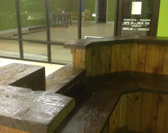Reclaimed Point-of-Sale  Reception Counter Desk