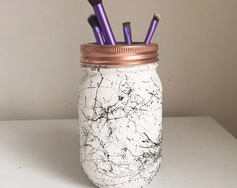 Hand painted Marble effect Mason Ball Jar