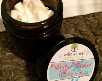 Winter Wonder Cream, whipped body butter, organic body butter, natural skin care, vegan friendly skin products