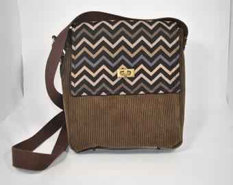 ONE OF A KIND handmade upcycled messenger bag satchel purse
