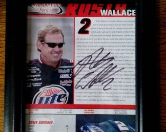 NASCAR Driver Autograph - Rusty Wallace