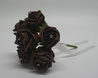 Wedding Posy - Perfect for Bridesmaids ( Chocolate )