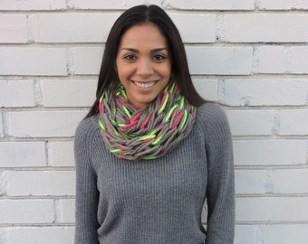 Devin's Elaborate Hand Knit Infinity Scarf