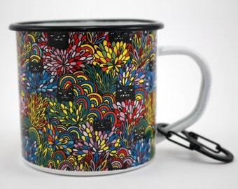 Camping Mug – Cat Mug for Camping, Limited Edition Enamel Mug