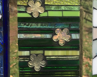 Stained Glass Decorative Garden Wall Tile, 10