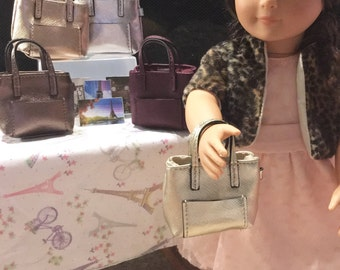 """American Girl or any 18"""" doll size purses!  Personailzed with either your first or last initial!"""