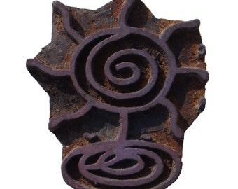 Batik Stamp, Vintage Hand Block, Texture Textile Stamp ,Antique Printing Block ,Wooden Block