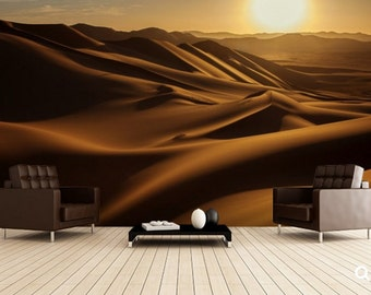 desert wallpaper, desert wall mural, desert wall decal, Sahara wallpaper, Sahara wall decal, Sahara wall mural, sun desert