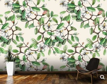 branch wallpaper, flower wall mural, big branch wall decal, big flower wallpaper, texture wallpaper, pattern wallpaper, branch wall decal