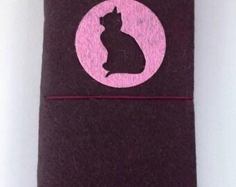 HANDMADE FELT NOTEBOOK By Shreem | Cat Design Travel Journal Diary
