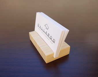 Wood Business Card Holder. Natural BambooBusiness Card Stand. Wood Card Holder. Office Card Display. Personalized Card Holder