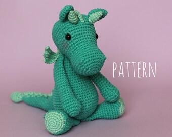 Amigurumi Pattern Crochet Pattern Dragon DIY Gift Baby Gift Amigurumi Animals Personalised gift Baby boy gift PDF Pattern Amigurumi Crochet