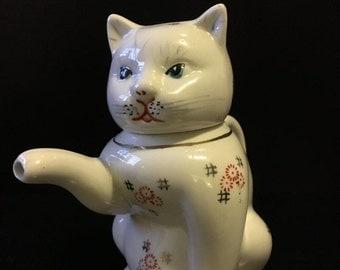 ON SALE Vintage Vintage Cat Milk Pour - Cat Tea Pot