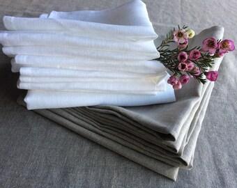 Natural color eco linen dinner napkins-cloth napkins bulk-custom size rustic wedding napkins-Easter napkins-everyday serving organic napkins