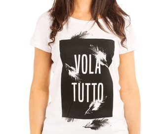 Volatutto feather t-shirt woman