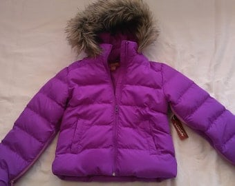 Special Needs Girls Purple Winter Coat sz 7/8