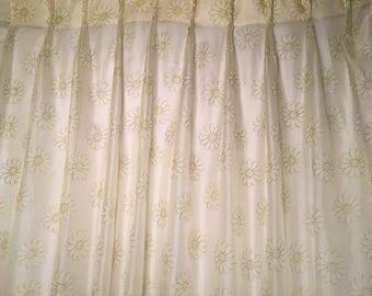 Sheer Daisy Curtain Panels