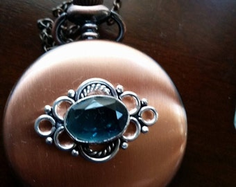 Quartz Pocket Watch Necklace