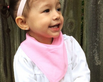 Pink Dotted Baby Bibdana bib