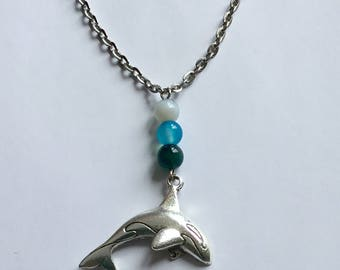 Orca choker necklace