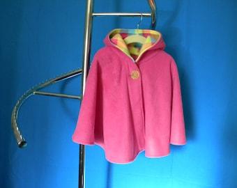Fleece hooded cape