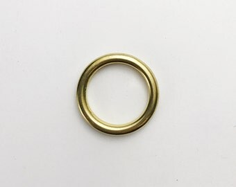 4 Pack of Solid Brass O Rings / O Ring / Macrame Supplies / Macrame Hardware /