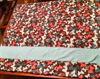 Cozy, Fleece Butterfly Blanket