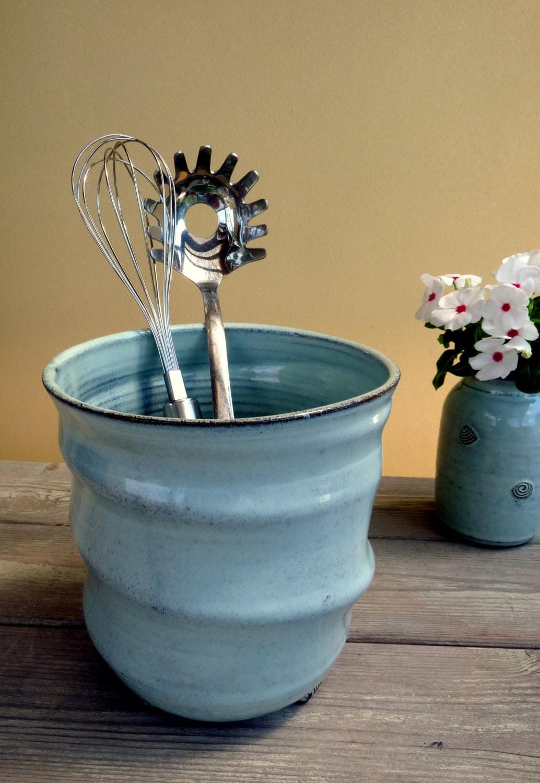 Ceramic Utensil Holder Kitchen Container Big Ceramic Utensil