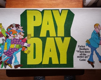 Payday Board game No. 26, vintage from 1975 made by Parker Brothers