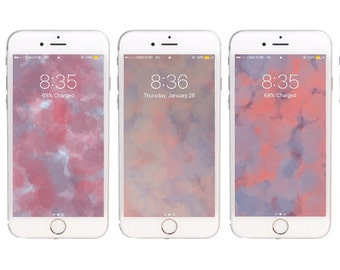 3 Pastel Watercolor wallpapers for iPhone 5,5s, 6, 6 plus, 6s and 6s Plus