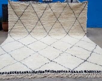 Large Moroccan rug Beni Ourain handmade 100% wool rug 13 x 10 Feet