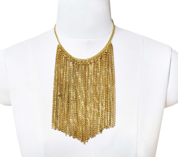 Modern Gold Stone Statement Necklace
