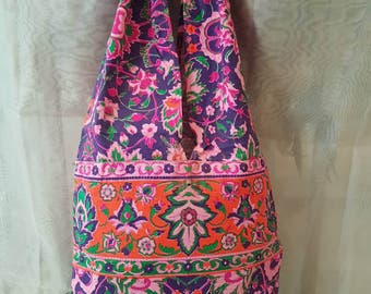 Bag printed fluo, boho bag, shoulder bag