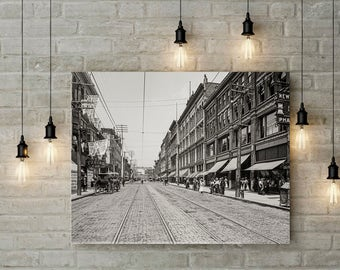 Knoxville Tennessee Gay Street Photo Historical Knoxville Wall Art Home Decor Knoxville