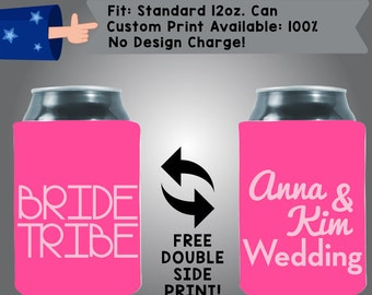 Bride Tribe Names Wedding Collapsible Fabric Wedding Cooler Double Side Print (W103)