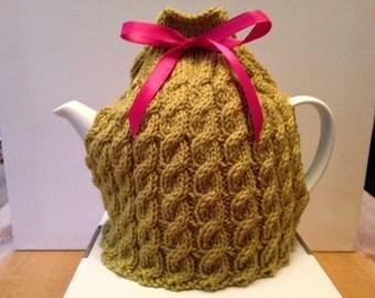 Hand Knitted Bespoke Green Tea Cosy