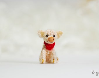 Miniature crochet pig, Cute Tiny Pig, Amigurumi pig, Crochet animals, Farm Animal