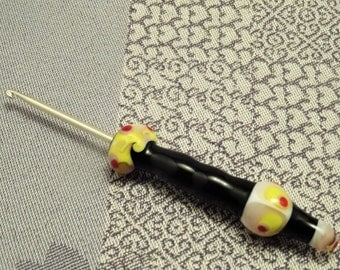 CROCHET HOOK with lampwork handle !lampwork!