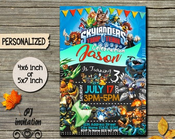 Skylanders Invitation / Skylanders Birthday Invitation / Skylanders Party / Skylanders Invite / Skylanders Birthday / Skylanders Card SL