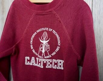 1980s CalTech Sweatshirt - Size small 6-8