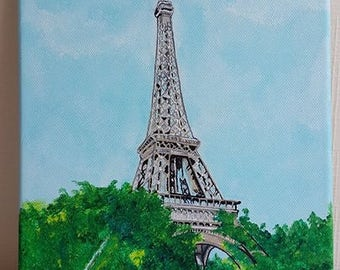 Paris EIFFEL Tower painting