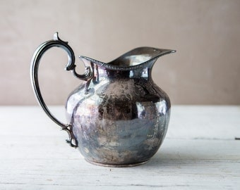 Silverplate Water Pitcher-Food Photography Props