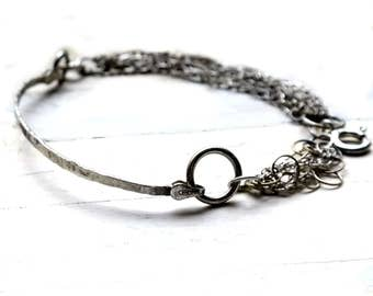 Handmade Sterling Silver Bracelet,modern bracelet, statement bracelet, everyday bracelet