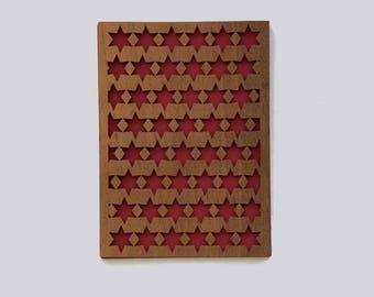 Wood card star