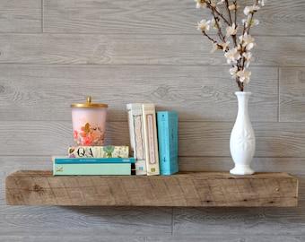 30x7.5x3 Rustic Reclaimed Wood Shelves - Barnwood Floating Shelf