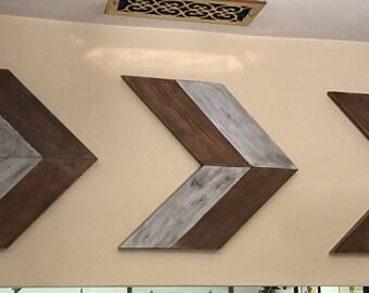 Set of 3 rustic arrows handmade