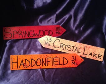Horror Locations Directional Signs