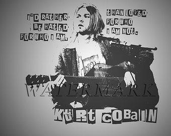 Nirvana, Nirvana Concert Poster, Nirvana Art, Nirvana Poster, Nirvana Print, Kurt Cobain, Kurt Cobain Wall Art, 8x10, 11x14, 16x20 (JS00895)