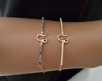 925K Sterling Silver Horoscope Bracelet Leo Bracelet Astrology Bracelet Zodiac Sign Leo Bracelet Free Evil Eye Bracelet